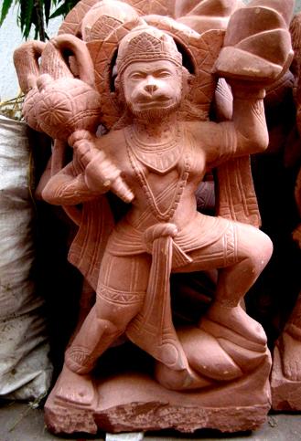 Hanuman Ji Red Stone