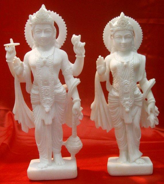 Vishnu & Luxmi -under painting