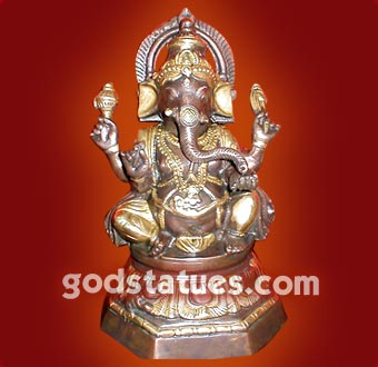brass-ganesh-double-color