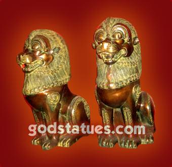 brass-nepali-lions