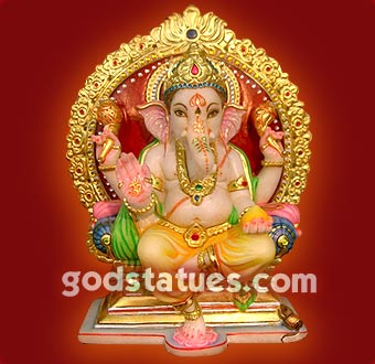 ganesh with golden asan