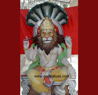 narsimha-sitting-with-blessing-four-arms