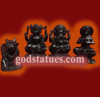 shiv-pariwar-shivling-family-in-black-stone