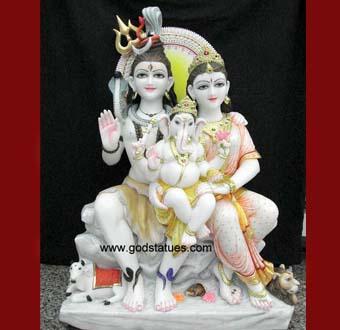 shiv-parvati-statues
