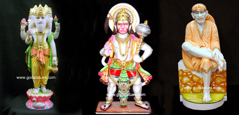 sai hanuman ji marble statues