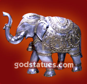 white-brass-golden-elephant